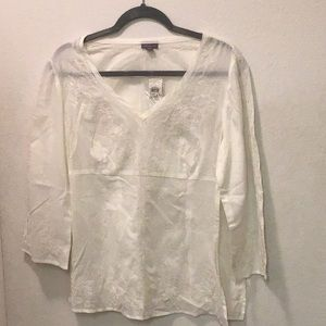 Ann Taylor Embroidered Blouse Top NWT
